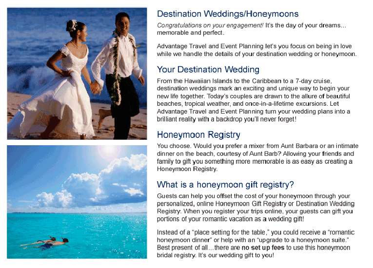 destination weddings honeymoons by advantage travel event planning